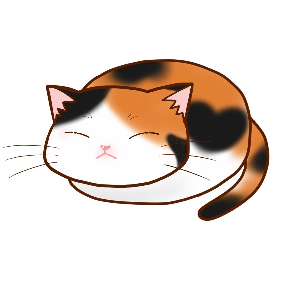 まんじゅう三毛全身B-Manju cat calico whole body B-