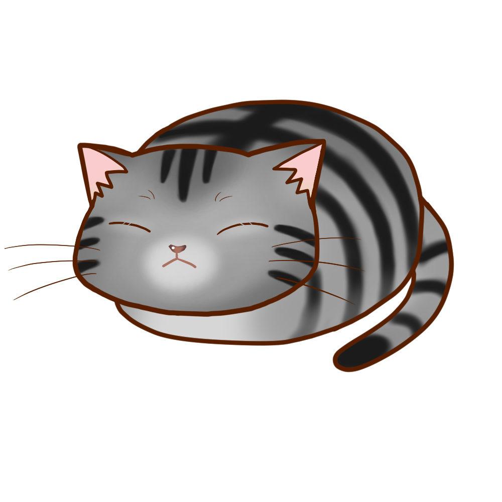 まんじゅうサバトラ全身B-Manju cat sabatora whole body B-
