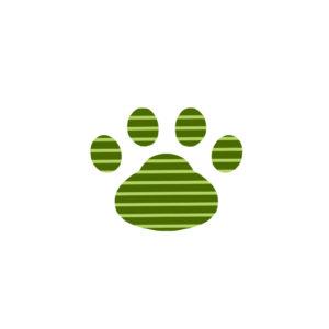 -border-paw-pad-green-ボーダー肉球足跡グリーン