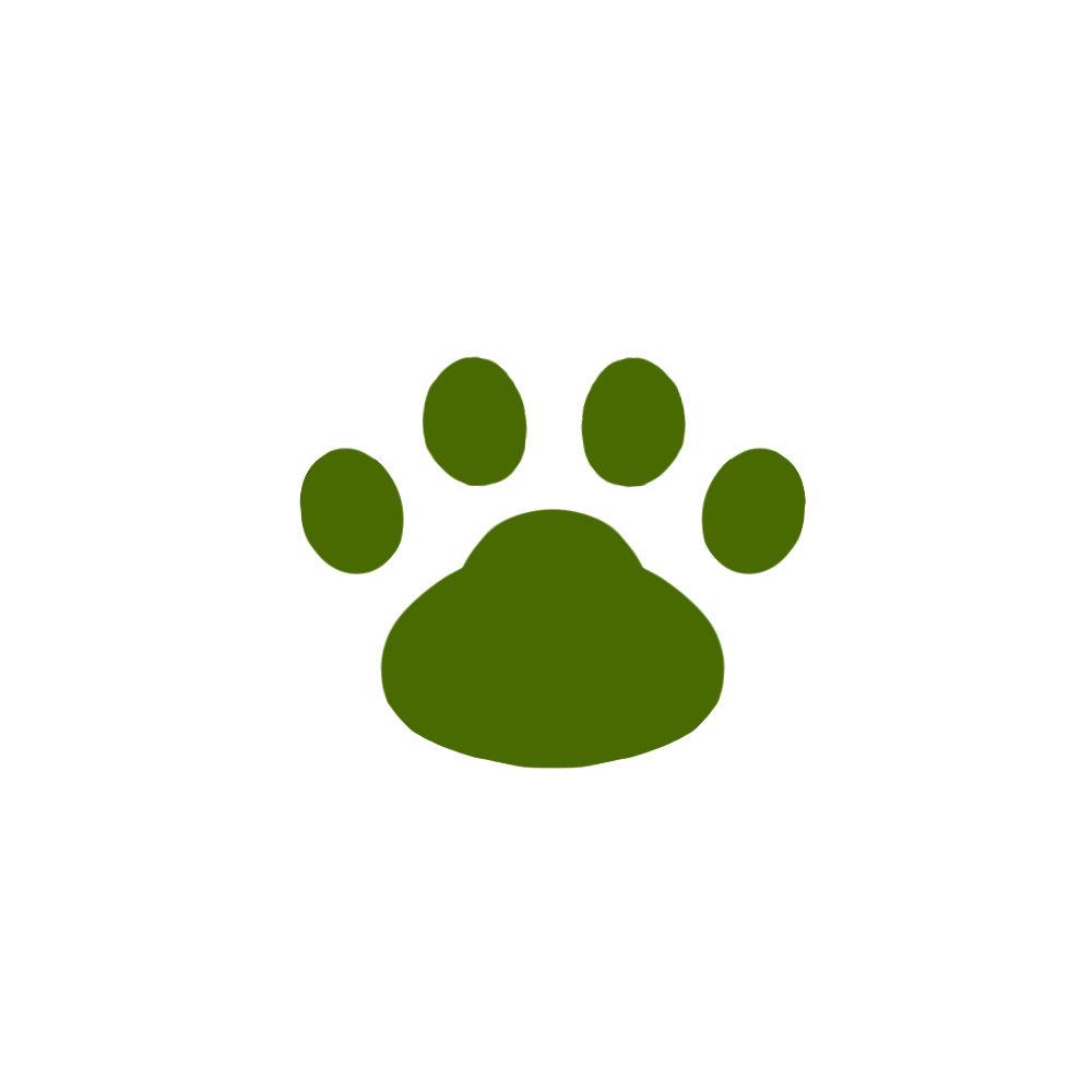 -simple-paw-pad-green-シンプルな肉球足跡グリーン