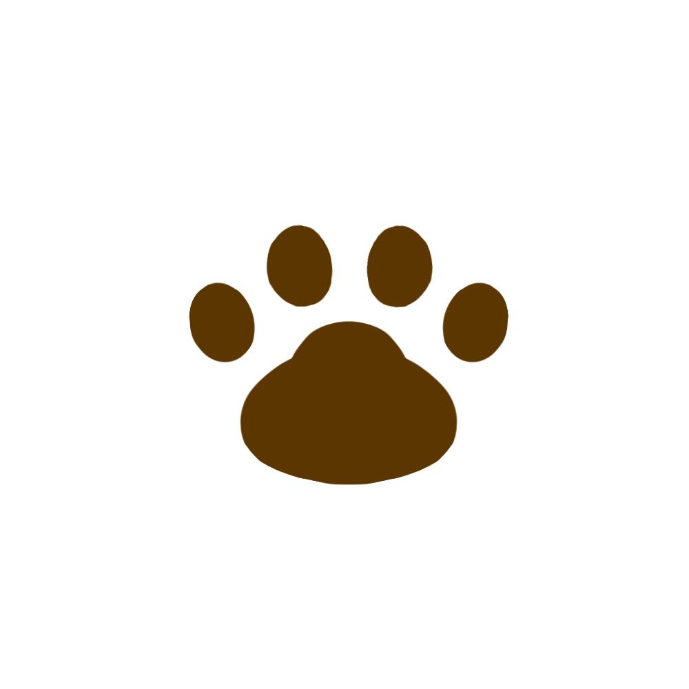 -simple-paw-pad-brown-シンプルな肉球足跡ブラウン