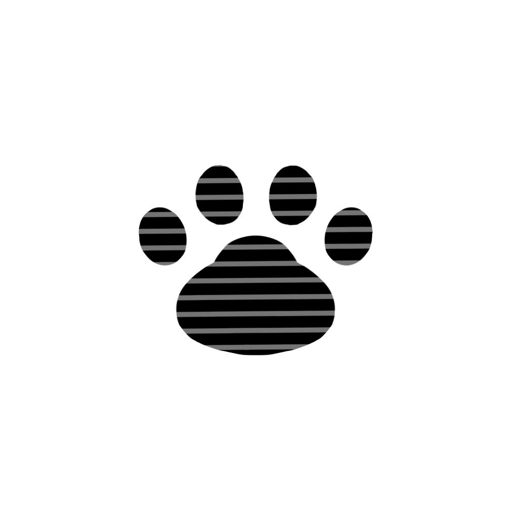 -border-paw-pad-black-ボーダー肉球足跡ブラック