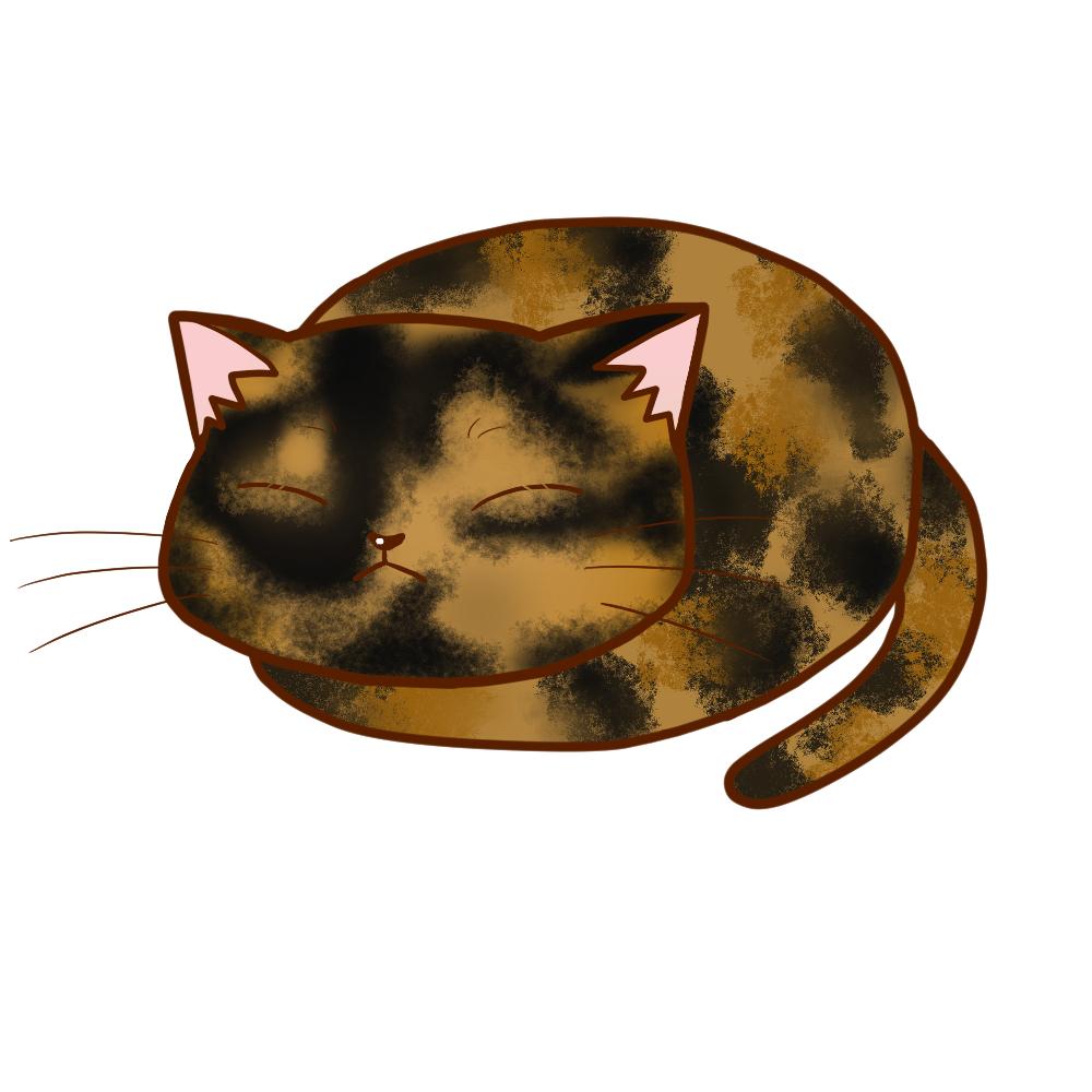 まんじゅうサビ全身B-Manju cat sabi whole body B-