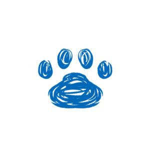 -rough-paw-pad-blue-ラフな線の肉球足跡ブルー