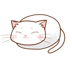 まんじゅう白全身B-Manju cat Whole Body B-