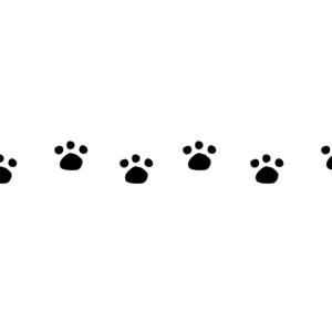 猫の足跡横並びラインブラック300