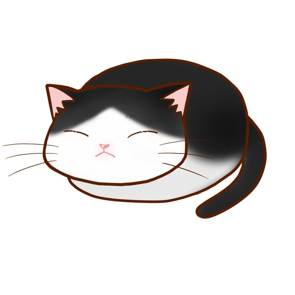 まんじゅうハチワレ全身B-Manju cat hachiware whole body B-