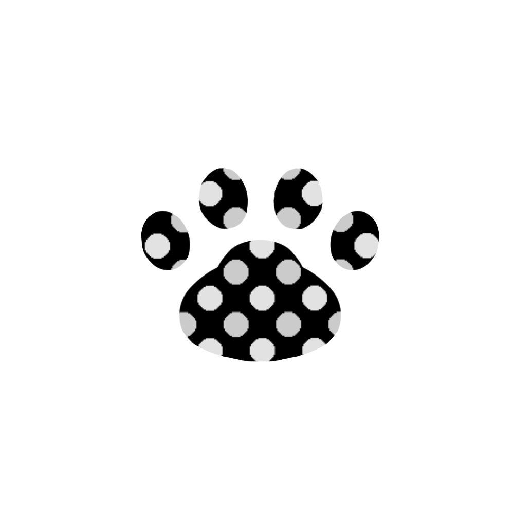 -dot-paw-pad-black-ドット肉球足跡ブラック
