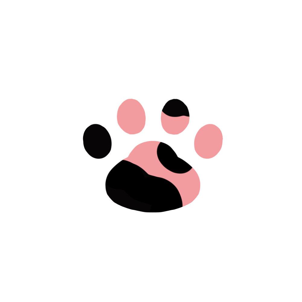 -simple-paw-pad-mottled-シンプルな肉球足跡まだら