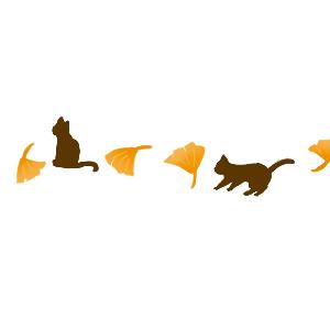 銀杏と猫のライン300