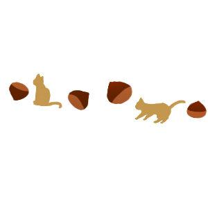 栗と猫のライン300