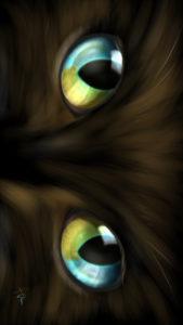 -cat-smartphone-wallpaper-cats-eye- Dichroic eye-real-スマホ用壁紙CATSEYEダイクロイックアイ