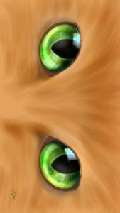 -cat-smartphone-wallpaper-cats-eye-green-real-スマホ用壁紙CATSEYEグリーン