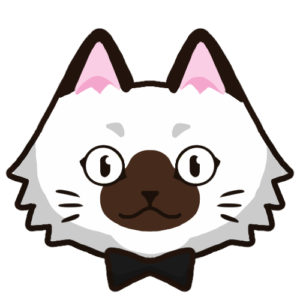 SNSアイコン長毛猫2背景無し