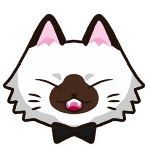 SNSアイコン長毛猫1背景無し
