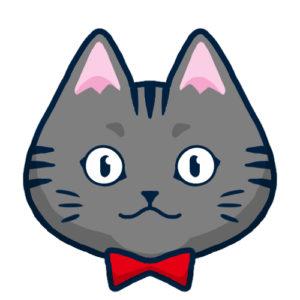 SNSアイコンサバトラ猫2背景無し