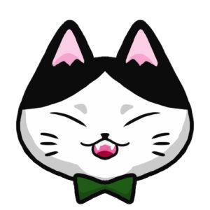 SNSアイコンハチワレ猫1背景無し
