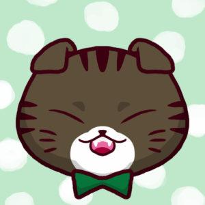 【SNSプロフィール用猫アイコン】折れ耳猫1-sns-profile-cat-icon-oremimi1-