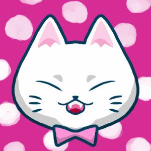 【SNSプロフィール用猫アイコン】白猫1-sns-profile-cat-icon-white1-