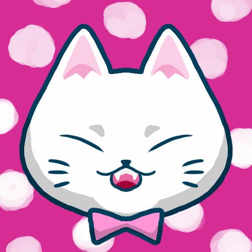 SNSアイコン白猫1