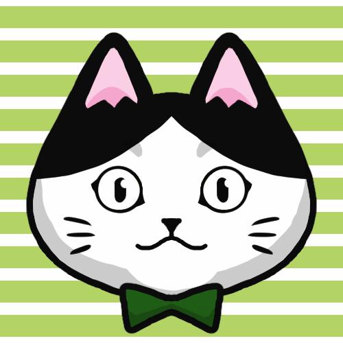 SNSアイコンハチワレ猫2