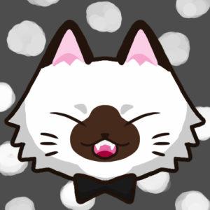 【SNSプロフィール用猫アイコン】長毛猫1-sns-profile-cat-icon-longhair1-