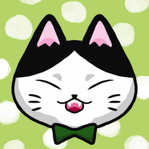 SNSアイコンハチワレ猫1