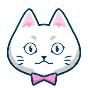 SNSアイコン白猫2背景無し
