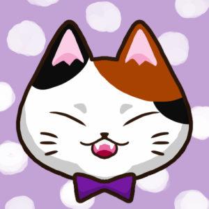 【SNSプロフィール用猫アイコン】三毛猫1-sns-profile-cat-icon-calico1-