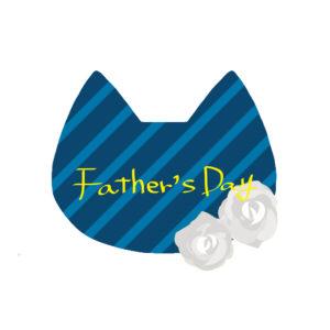 父の日ネコの顔とバラブルー×ネイビー-fathers-day-cat-rose-blue×navy
