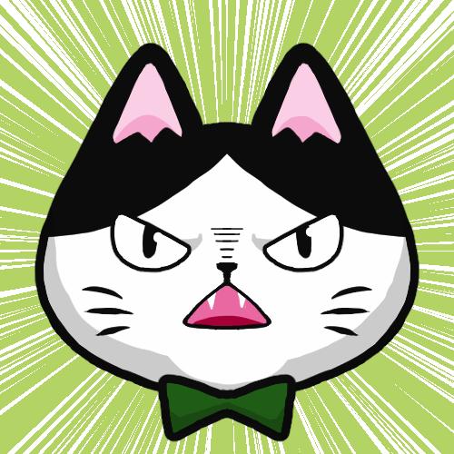 SNSアイコンハチワレ猫3
