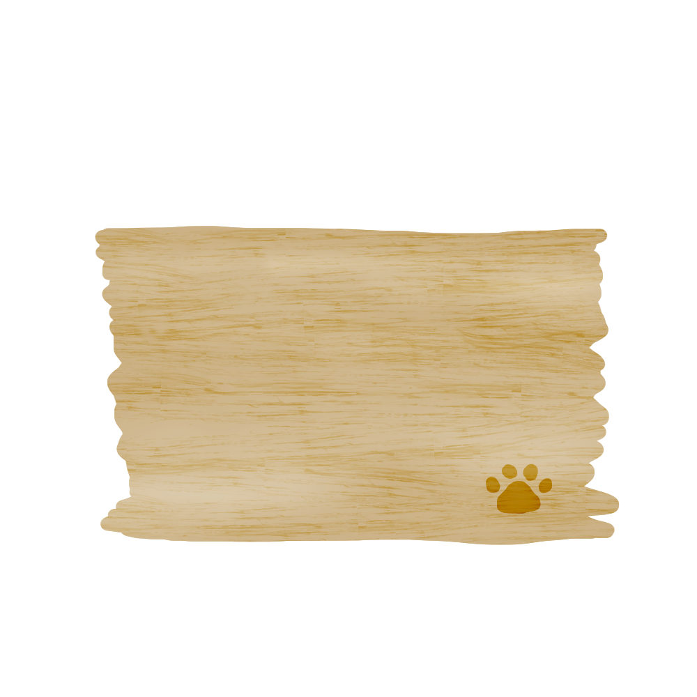 木のボードと猫の肉球フレームオーク-wood-board-pad-oak-color