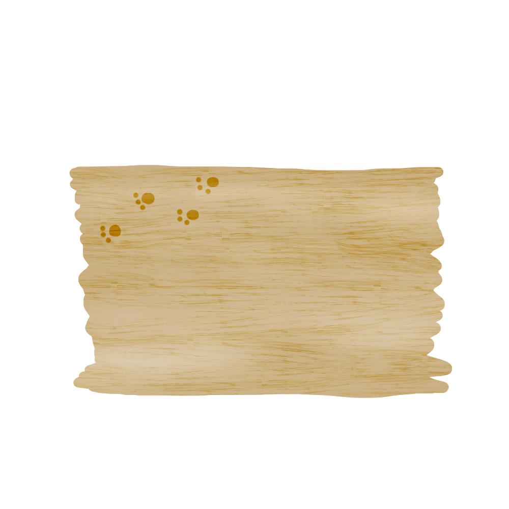 木のボードと猫の足跡フレームオーク-wood-board-footprints-oak-color