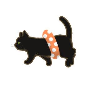 夏猫ブラック浮き輪
