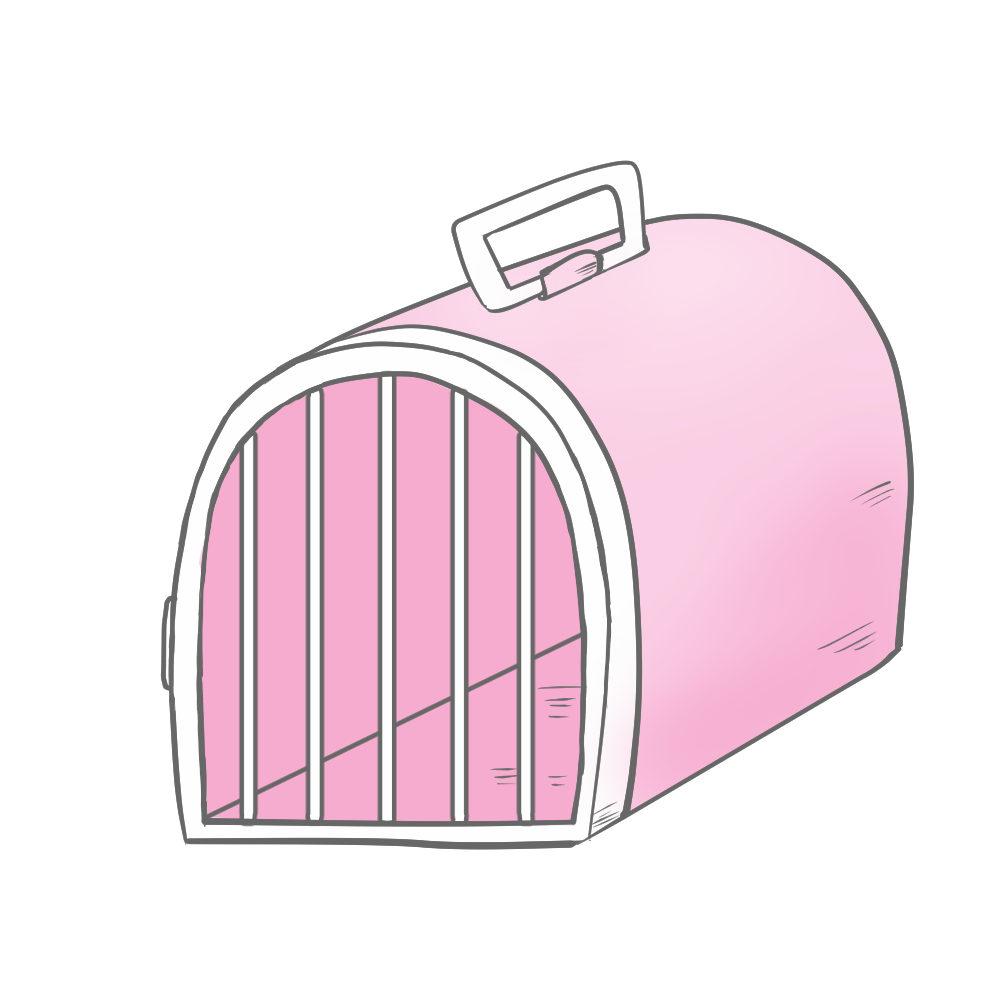 猫アイテム犬猫用ペットキャリーピンク