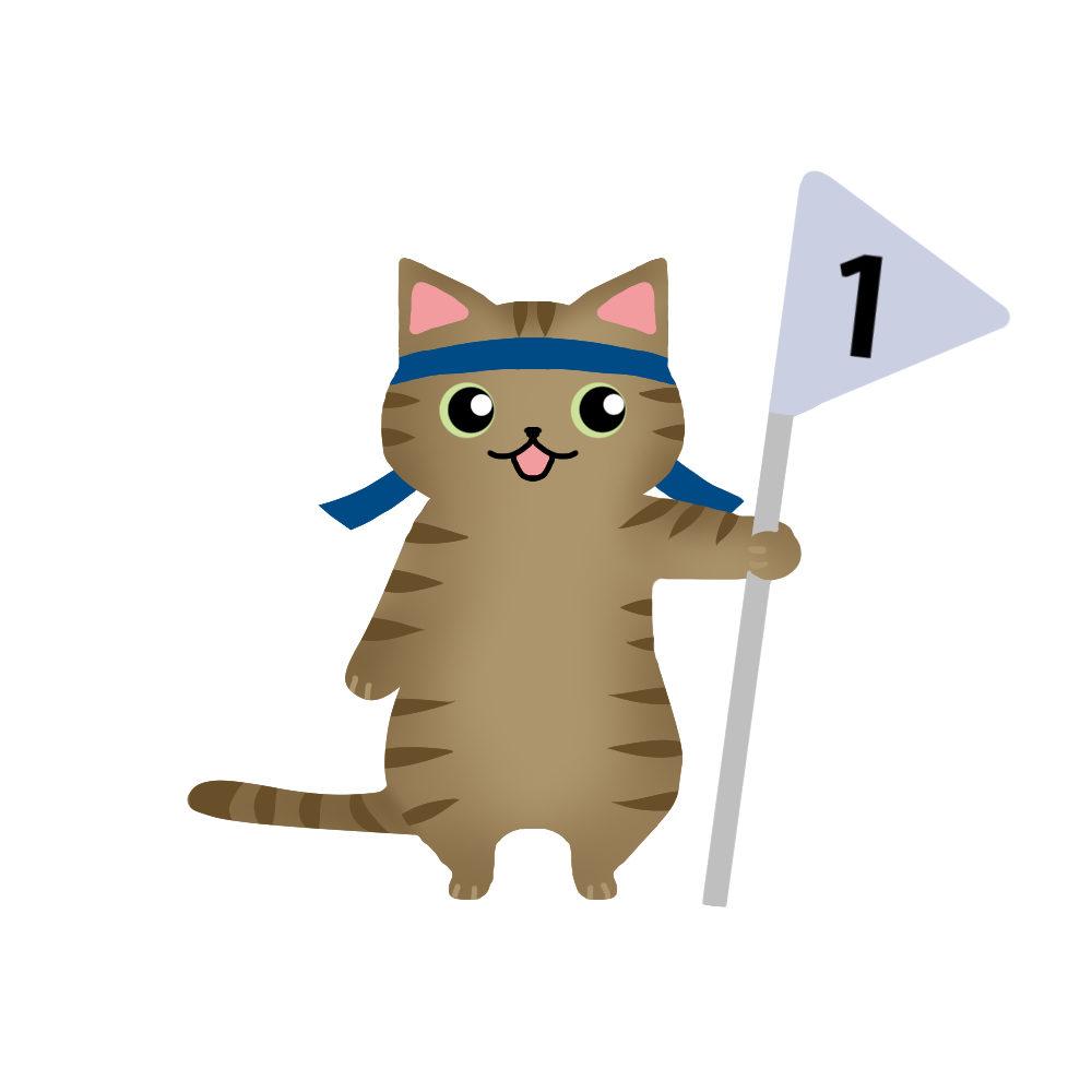 猫イラスト季節イベント一等賞キジトラ
