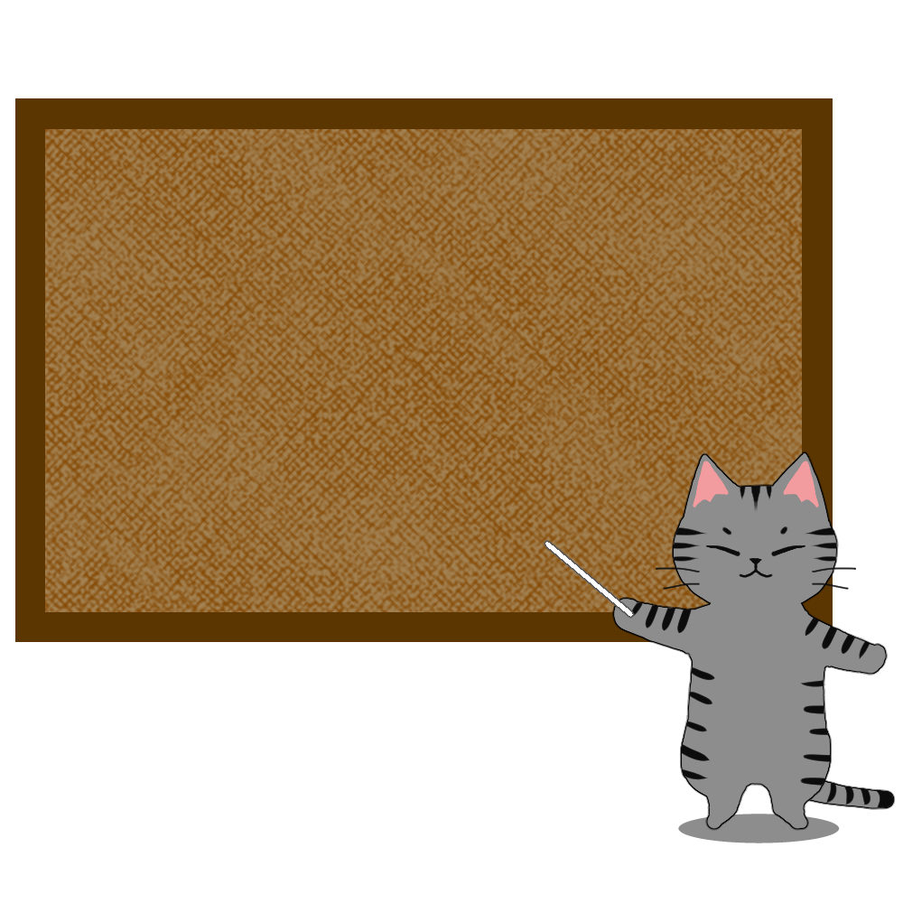 猫とコルクボードサバトラ