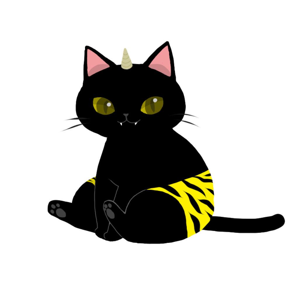 鬼パンツ黒猫