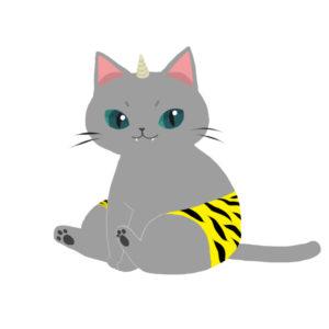 鬼パンツグレー猫