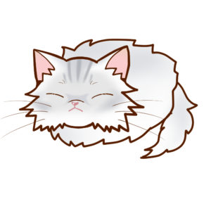 まんじゅう猫全身Bペルシャチンチラシルバー