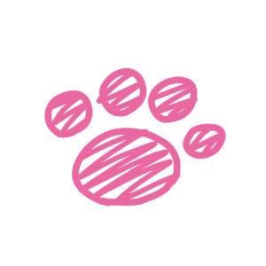 ラクガキ肉球ピンク