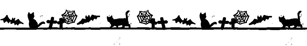 ハロウィンをイメージした猫のライン素材ブラック