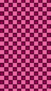 スマホ用壁紙市松模様と猫の肉球柄ピンク