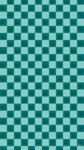 スマホ用壁紙市松模様と猫の肉球柄ブルー